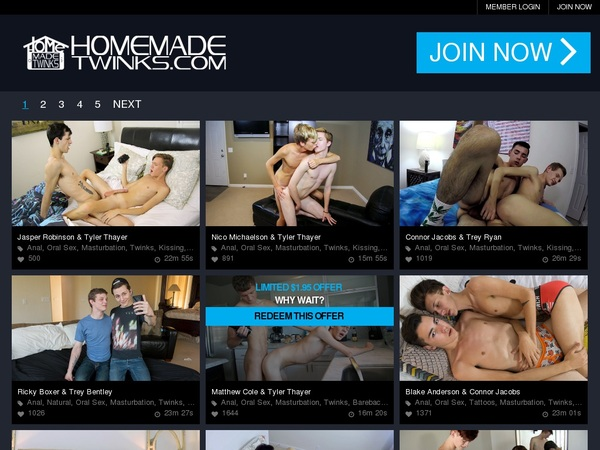 Home Made Twinks Sign Up Form