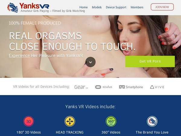 Yanks VR Discount Join Page